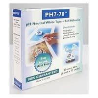 Self Adhesive pH7-70 Conservation Mounting and Hinging Tape 25mm x 66m (unboxed)
